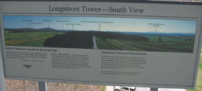Longstreet Tower - South View Marker image. Click for full size.