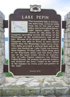 Lake Pepin Marker image. Click for full size.