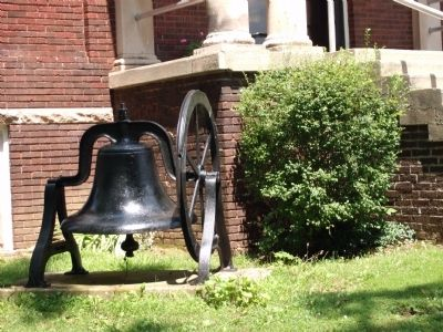 Old Church Bell - Sits to Left of Church Front Entry image. Click for full size.