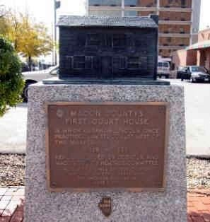 "Decatur, Illinois - ""Lincoln Marker"" image. Click for full size."