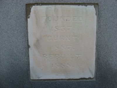 Original Cornerstone from Reidville Male Academy image. Click for full size.