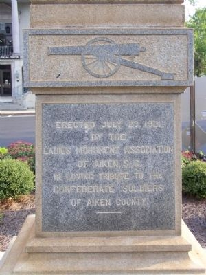 Aiken County Confederate Monument Marker, North Face image. Click for full size.