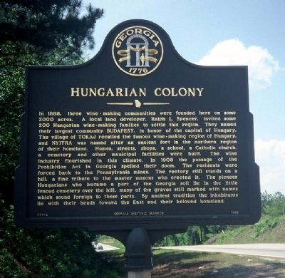 Hungarian Colony Marker image. Click for full size.
