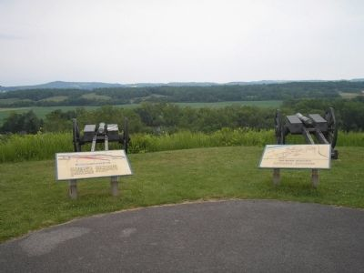 Markers at the Great Redoubt image. Click for full size.
