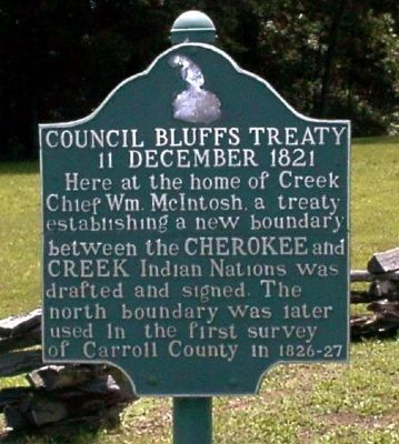 Council Bluffs Treaty Marker image. Click for full size.