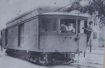 "Right picture on the marker, titled ""Interurban Travel"" image. Click for full size."