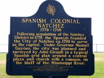 Spanish Colonial Natchez Marker image. Click for full size.