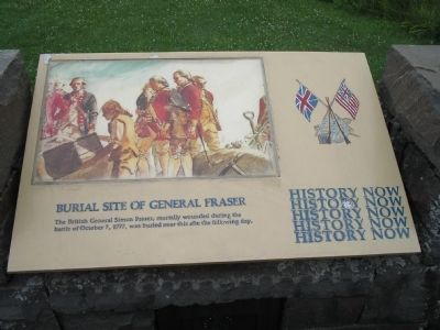 Burial Site of General Fraser Marker image. Click for full size.