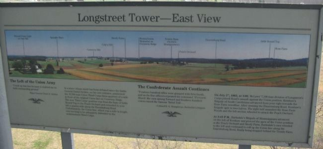 Longstreet Tower - East View Marker image. Click for full size.