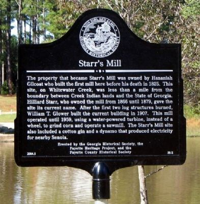 Starr's Mill Marker image. Click for full size.