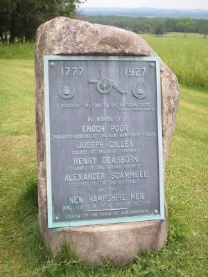 New Hampshire Memorial Marker image. Click for full size.