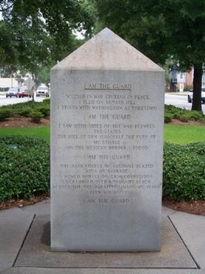 Army National Guard Marker, East face <u>I Am The Guard </u> image. Click for full size.