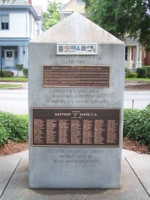 Army National Guard Marker, South face image. Click for full size.