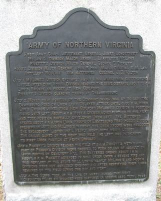 Army of Northern Virginia Tablet image. Click for full size.