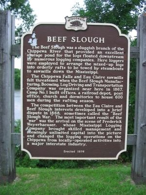 Beef Slough Marker image. Click for full size.