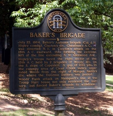 Baker's Brigade Marker image. Click for full size.