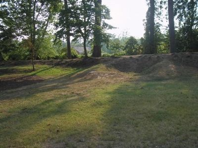 Remains of Fort Magruder image. Click for full size.
