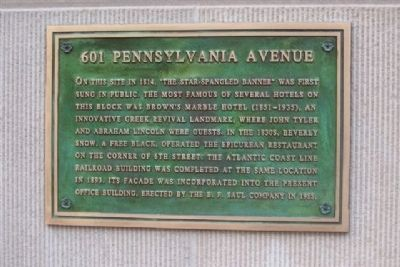 601 Pennsylvania Avenue Marker image. Click for full size.