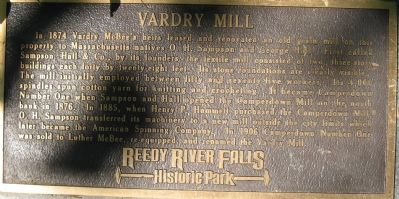 Vardry Mill Marker image. Click for full size.