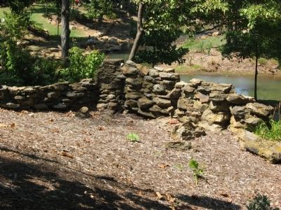 Camperdown No. 1<br>Stone Retaining Wall Ruins. image. Click for full size.