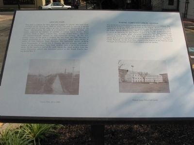 Leutze Park / Marine Corps Historical Center Marker image. Click for full size.