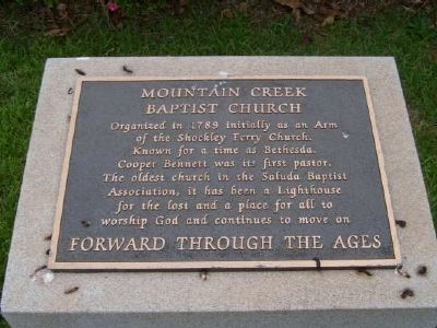 Mountain Creek Baptist Church Marker image. Click for full size.