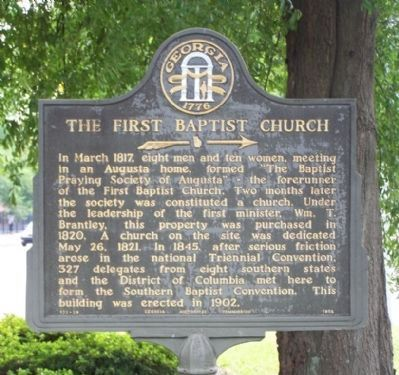 The First Baptist Church Marker image. Click for full size.