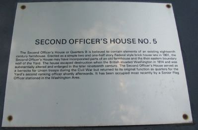 Second Officer's House Marker image. Click for full size.