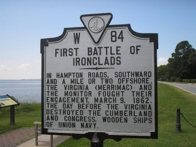 First Battle of Ironclads Marker image. Click for full size.