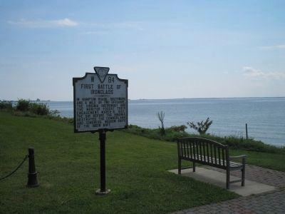 Marker on the Chesapeake Bay image. Click for full size.