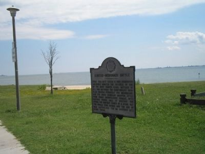 Marker at Hampton Roads image. Click for full size.