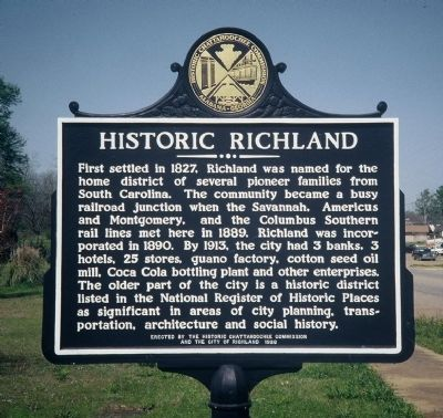 Historic Richland Marker image. Click for full size.