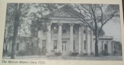 The Mercer Manor circa 1926 image. Click for full size.