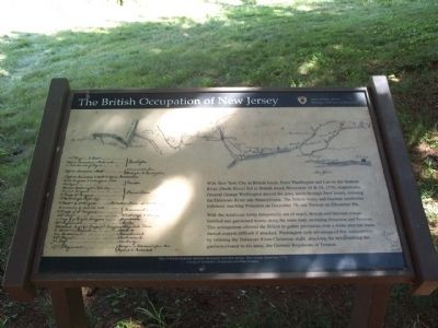 The British Occupation of New Jersey Marker image. Click for full size.