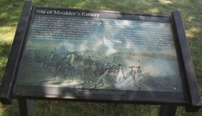 Site of Moulder's Battery Marker image. Click for full size.