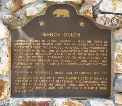 French Gulch Marker image. Click for full size.
