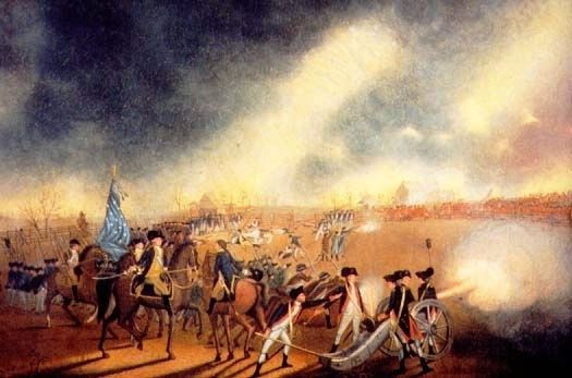 Battle of Princeton by James Peale image. Click for full size.