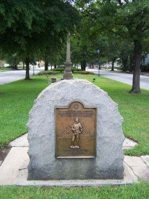 The Veterans of 1898-1902 Marker looking east on Greene St. image. Click for full size.