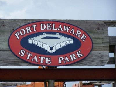 Fort Delaware State Park Sign image. Click for full size.