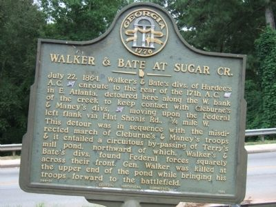 Walker & Bate At Sugar Creek Marker image. Click for full size.