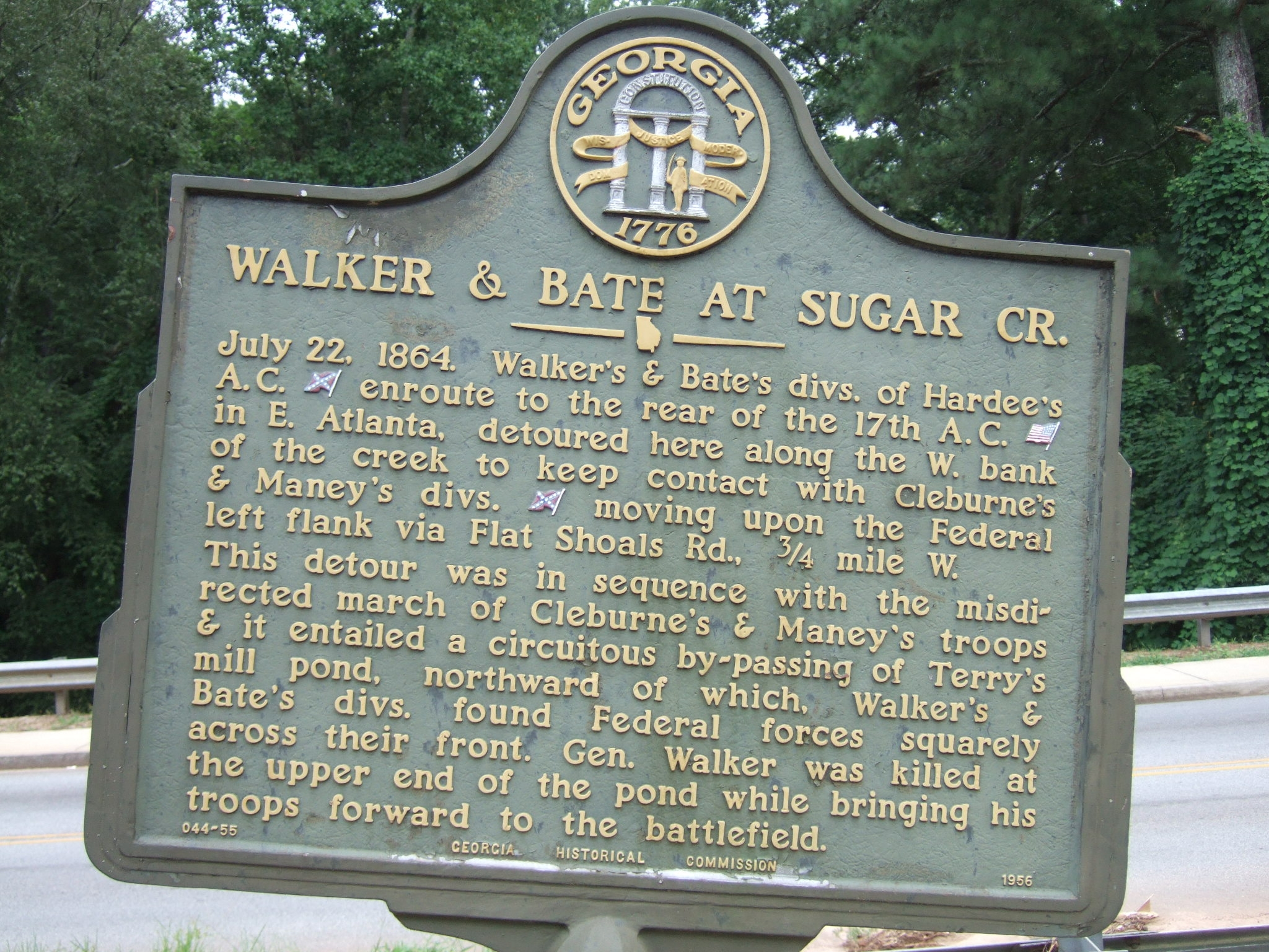 Walker & Bate At Sugar Creek Marker