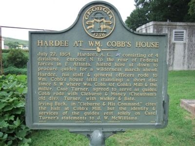 Hardee at Wm. Cobb's House Marker image. Click for full size.