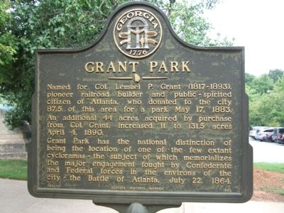 Grant Park Marker image. Click for full size.