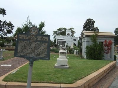 Where Hood Watched the Battle of Atlanta Marker image. Click for full size.