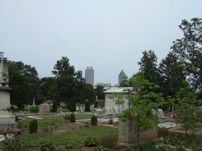 The view of current downtown Atlanta from Oakland Cemetery image. Click for full size.