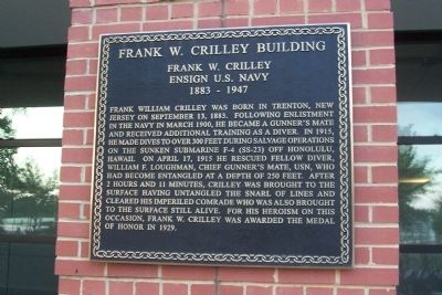 Frank W. Crilley Building Marker image. Click for full size.