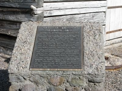 Cressler - Bonner Trading Post Marker image. Click for full size.