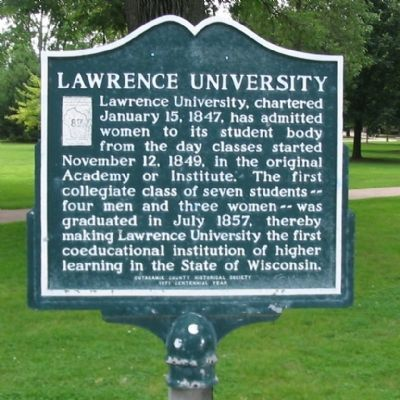 Lawrence University Marker image. Click for full size.