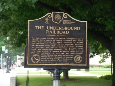 The Underground Railroad Face of Marker image. Click for full size.
