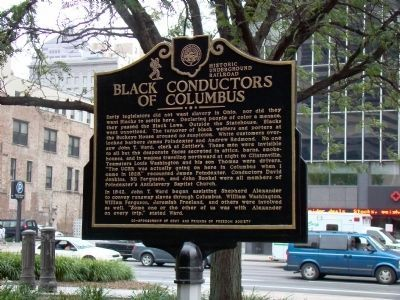 Black Conductors of Columbus Face of Marker image. Click for full size.